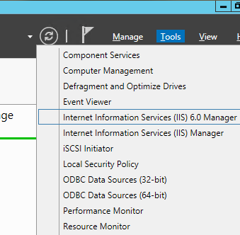 IIS 6 manager