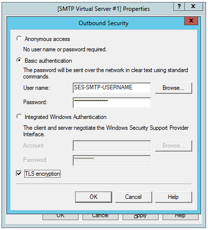 Outbound security configuration