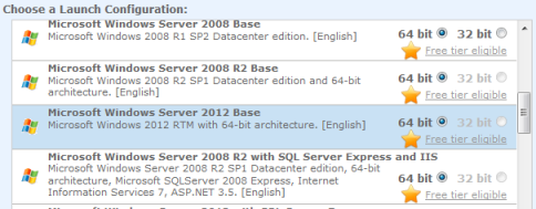 Microsoft Windows Server 2012 AWS instance