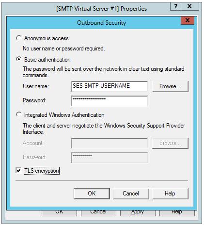 Outbound security configuration